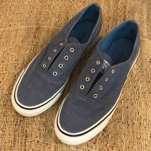 Speedy top-sider blue washed ladies boat shoes